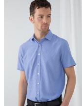 Men`s Gingham Cofrex/Pufy Wicking Short Sleeve Shirt